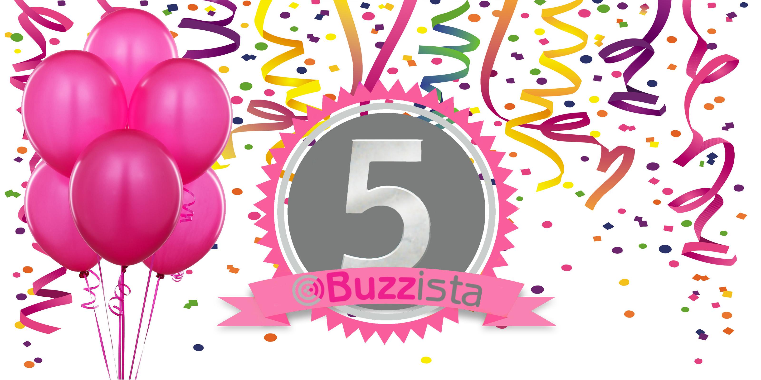 hoera buzzista bestaat 5 jaar www buzzista nl we